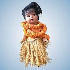 Hawaiian doll marked S&H -- Hanna