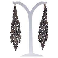 Late 18th Century Iberian diamond earrings