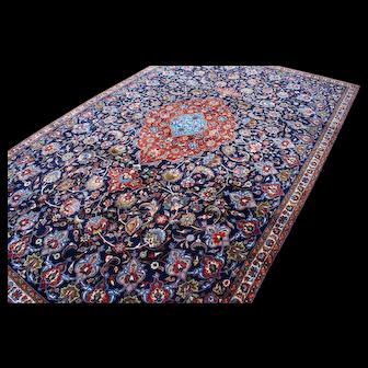 MINT!! BLUE 7x11 Nain Esfahan Persian Area Rug