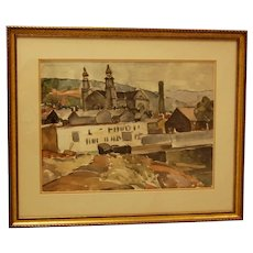 Early to Mid-20th Century Framed Watercolor by William Robert Shulgold