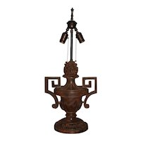 19th Century Italian Carved Pine Finial, Wired as a Table Lamp