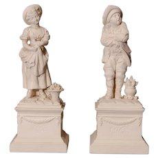 Pair of Italian Bisque Figures Circa 1960's