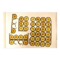 English Amber Bullseye Glass Rondoles Circa 1890