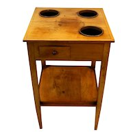 French Rafraichissoir Wine Table in Fruitwood w/ three wine buckets, circa 1820