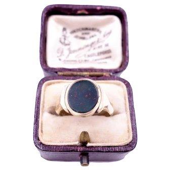 Antique Victorian Bloodstone Signet Ring