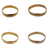 """17th/18th Century Georgian Gold Posy Ring Inscribed """"God to thee directed me"""" Makers Mark and Bench Mark"""