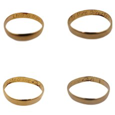 "17th/18th Century Georgian Gold Posy Ring Inscribed ""God to thee directed me"" Makers Mark and Bench Mark"