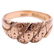 Antique Edwardian 18 Karat Gold Keeper Wedding Ring