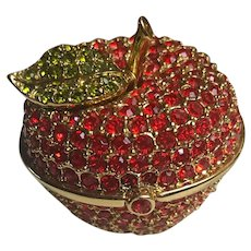 Estee Lauder Jeweled Red Apple Solid Perfume Compact