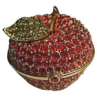 Estée Lauder Jeweled Red Apple Solid Perfume Compact