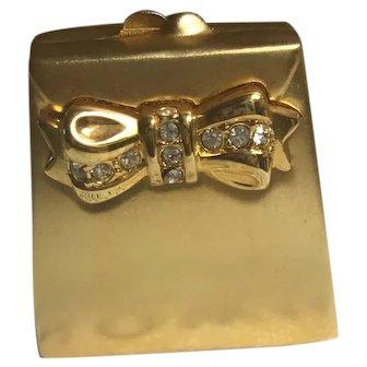 Estée Lauder Gold Minaudiere Purse Solid Perfume Compact
