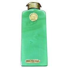 Large Renaud Green Slag Glass Vintage Talc Bottle