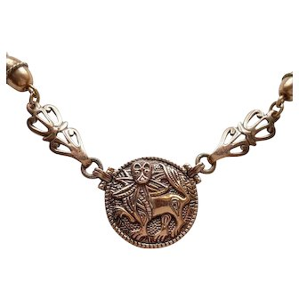 "Kalevala Koru - bronze ""Aurinkoleijona"" necklace - Finland"