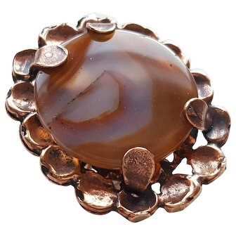 Pentti Sarpaneva - Bronze and Agate Cocktail Ring