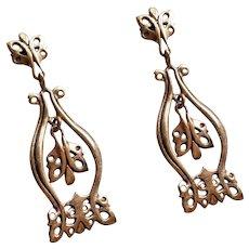 Jorma Valo - Kinetic Bronze Earrings - Valo-Koru -  Finland