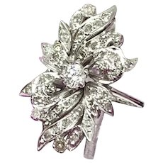 Fine Diamond 14 KT 1.17 CT Flower Cluster Ring Certified $5,000 606977