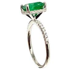 Fine Emerald & Diamond 18 Kt 2.81 Tcw Ladies Ring Certified $4,950 913128