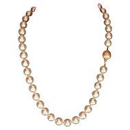 "Fine Diamond Akoya Pearl 14KT 10MM 18.25 "" Necklace Certified $12,600 607453"