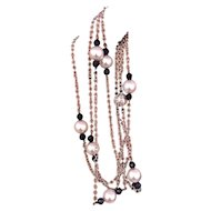 """Fine Akoya Pearl 14 KT 8.5-8 MM 38"""" Ladies Necklace Certified $3,450 721479"""
