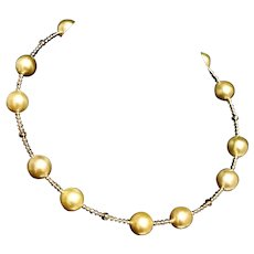 Fine South Sea Pearl 14 Kt 11.50mm Choker Necklace Italy Certified $3,450 820422