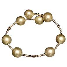 Fine South Sea Pearl 14Kt 10.80 mm Cuff Bracelet Italy Certified $1,690 820423