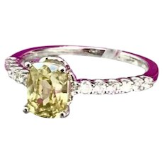Fine Yellow Sapphire & Diamond 18Kt 1.6 Ct Ring Certified $3,990 913139