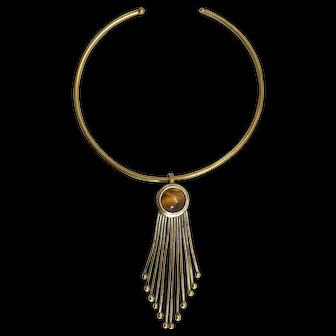 Fabulous 1970's 'Tiger's Eye' Choker necklace