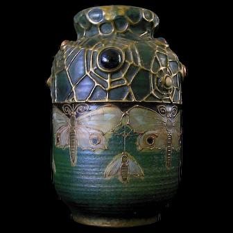Turn Teplitz Art Nouveau Amphora Vase Signed RSTK