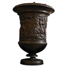 Monumental Bronze Urn Depicting Adam and Eve by Warren Wheelock