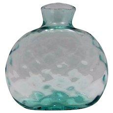 Antique Decorative Aqua Glass Bottle