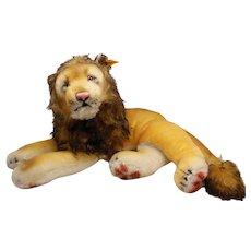 """Mohair Steiff Lying Leo Lion 0111/ 35 Germany 24"""""""