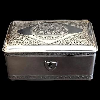 Handmade Sterling Silver Czech Tea Caddy