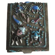 Antique Chinese Export Enamel Small Box