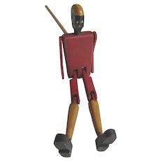 Vintage Black Americana Limberjack Wooden Dancing Jigger Stick Toy