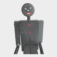 Vintage Black Americana Limberjack Wood Dancing Jigger Stick Toy