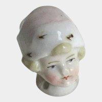 Antique German Pincushion Doll Head