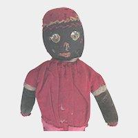 Antique Folk Art Black Americana Hand Made Doll