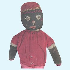 Antique Folk Art Black Americana Hand Made Doll