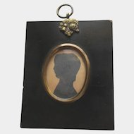 Antique British Silhouette of a Young Boy
