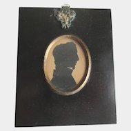 Antique British Silhouette of a Young Man