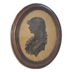 19th Century Silhouette of Beautiful Young Lady