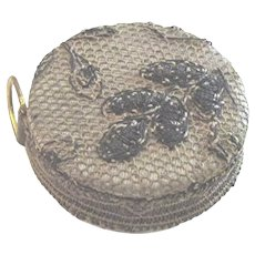 Victorian French Metallic Lace Doll Tape Measure