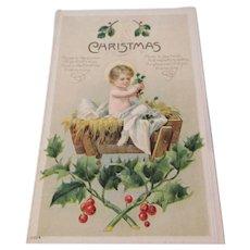 Antique Baby Jesus Christmas Postcard