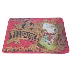 Antique Victorian Autograph Album 1880's Unused