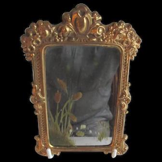 Antique German Erhard & Sohne Dollhouse Ormolu Mirror c1910