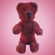 Schuco 1920s Red Mohair Perfume Teddy Bear