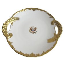 Antique White House National Remembrance Shop Serving Plate by T and V Limoges