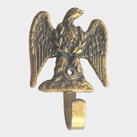 vintage Miniature Brass Patriotic Eagle Picture Hook for Dollhouse