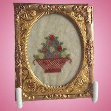Miniature Antique Sampler For Doll House
