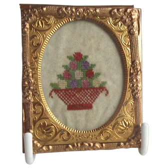Miniature Antique Sampler For Doll House